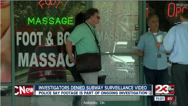 KERO ABC News Bakersfield: Private investigators denied surveillance footage of Subway officer involved shooting